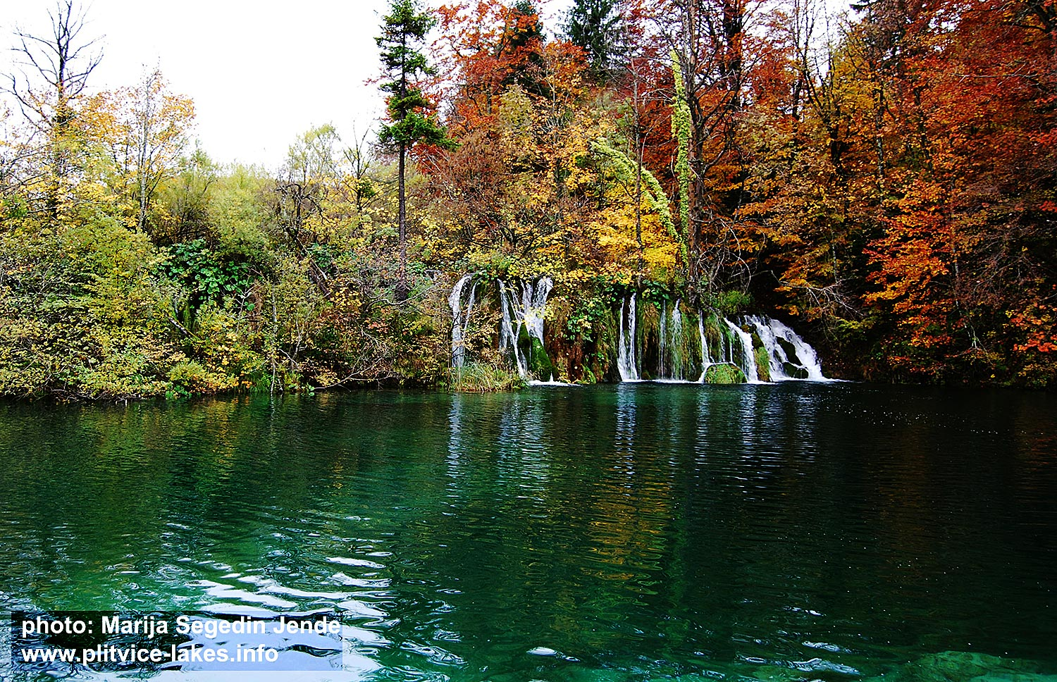 Waterfall at Plitvice in Autumn (2016)