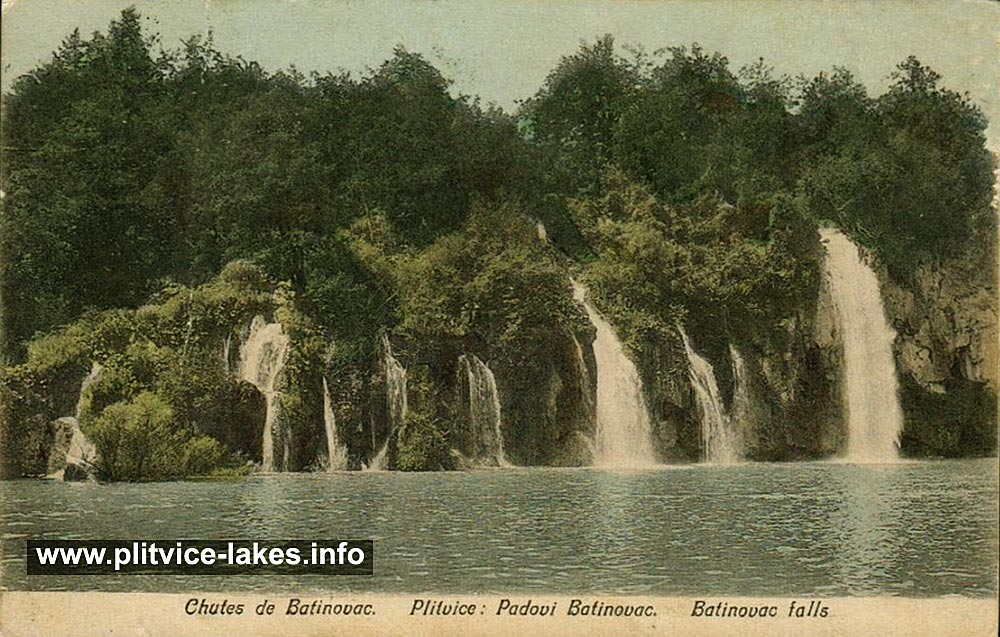Batinovac Lake and Waterfall - Plitvicka Jezera (1908)