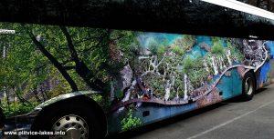 Parked Bus @ National Park Plitvicka Jezera