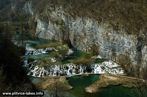 Beautiful Cascades at Plitvice Lakes National Park