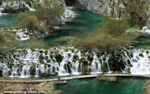 Views over Cascades at Plitvice, Croatia