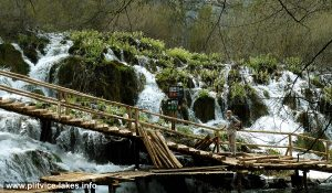 Crossing Cascades at Plitvice Lakes
