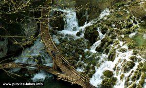 Birds Eye View of Cascades @ Plitvice Lakes