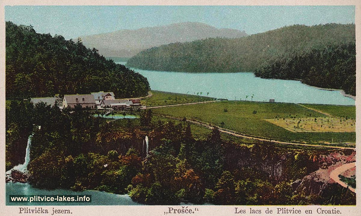 Ciginovac Lake in foreground with views over the lake and Proscansko jezero in the background (1900s)