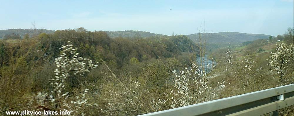 Driving from Zadar to Plitvicka Jezera