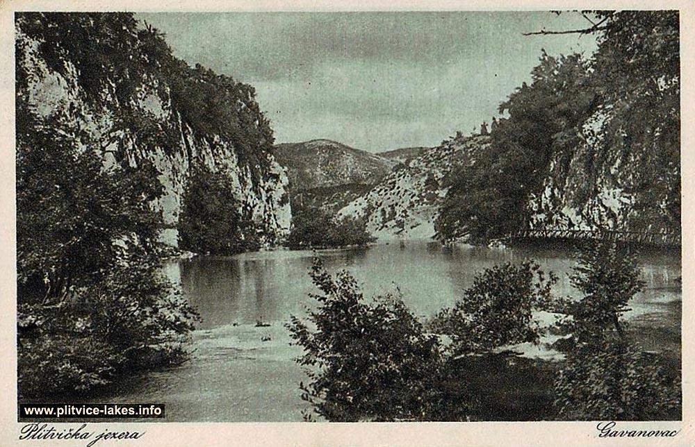 Gavanovac Lake Panorama - Plitvice 1930s