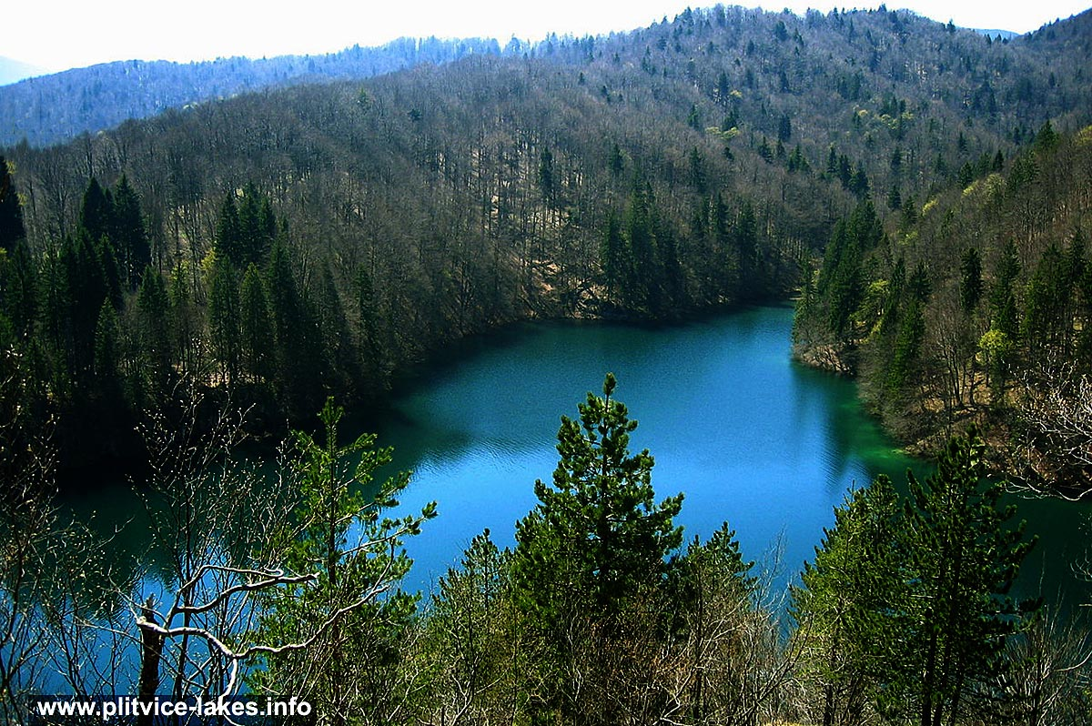 Panorama of Gradinsko Jezero, Spring Photo @ Plitvice Lakes
