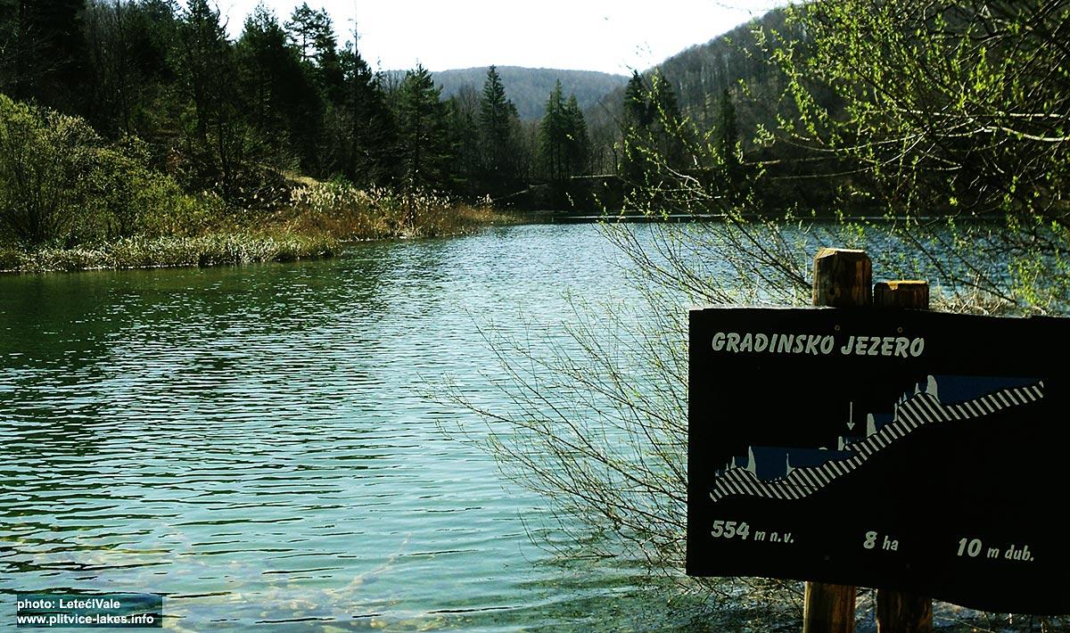 Gradinsko Lake Sign @ Plitvicka Jezera