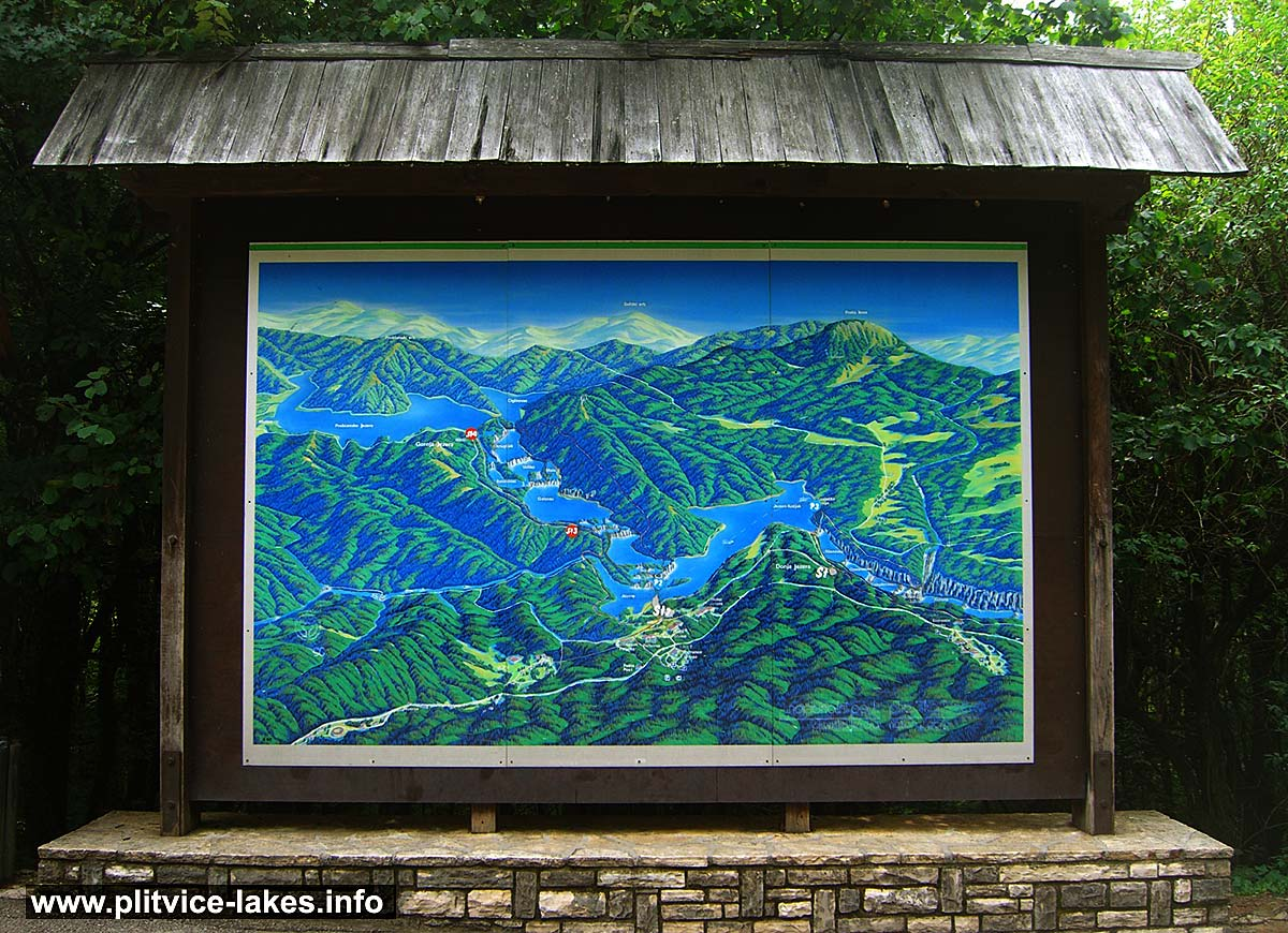 National Park Information Panel with 3D Map