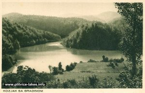 Kozjak Lake and Gradina -Plitvice (1930s)