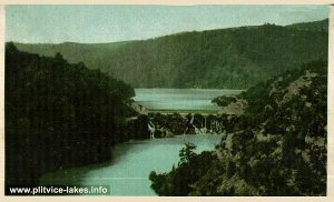 Panorama of Kozjak Lake with Waterfalls from 1917