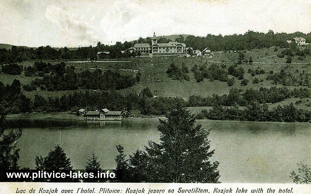 Kozjak Lake with Hotel (1907)