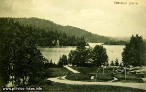 Panorama of Kozjak Lake at Plitvice Lake National Park (1930s)