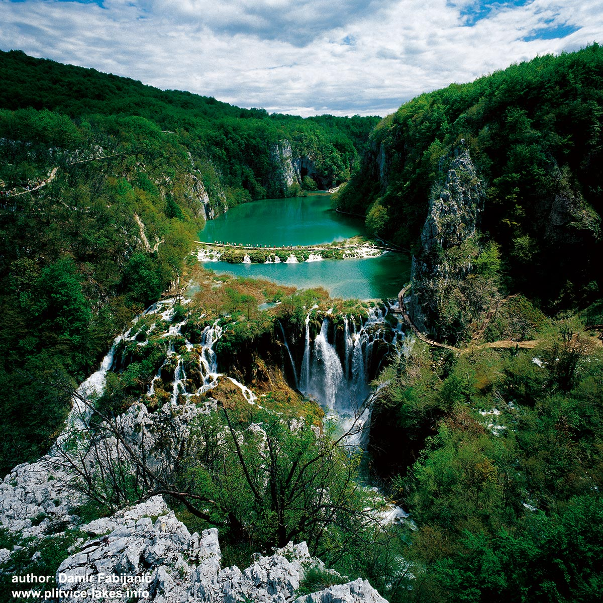 Panorama of Lower Lakes @ Plitvicka Jezera