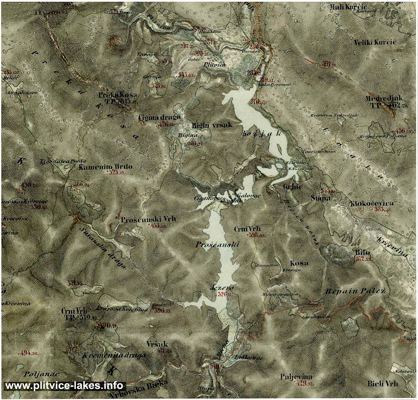 Maps of Plitvice Lakes  Plitvice Lakes