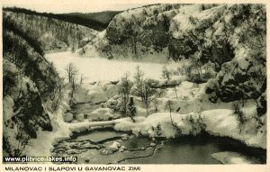 Lake Milanovac and waterfalls to Gavanovac @ Winter 1950s