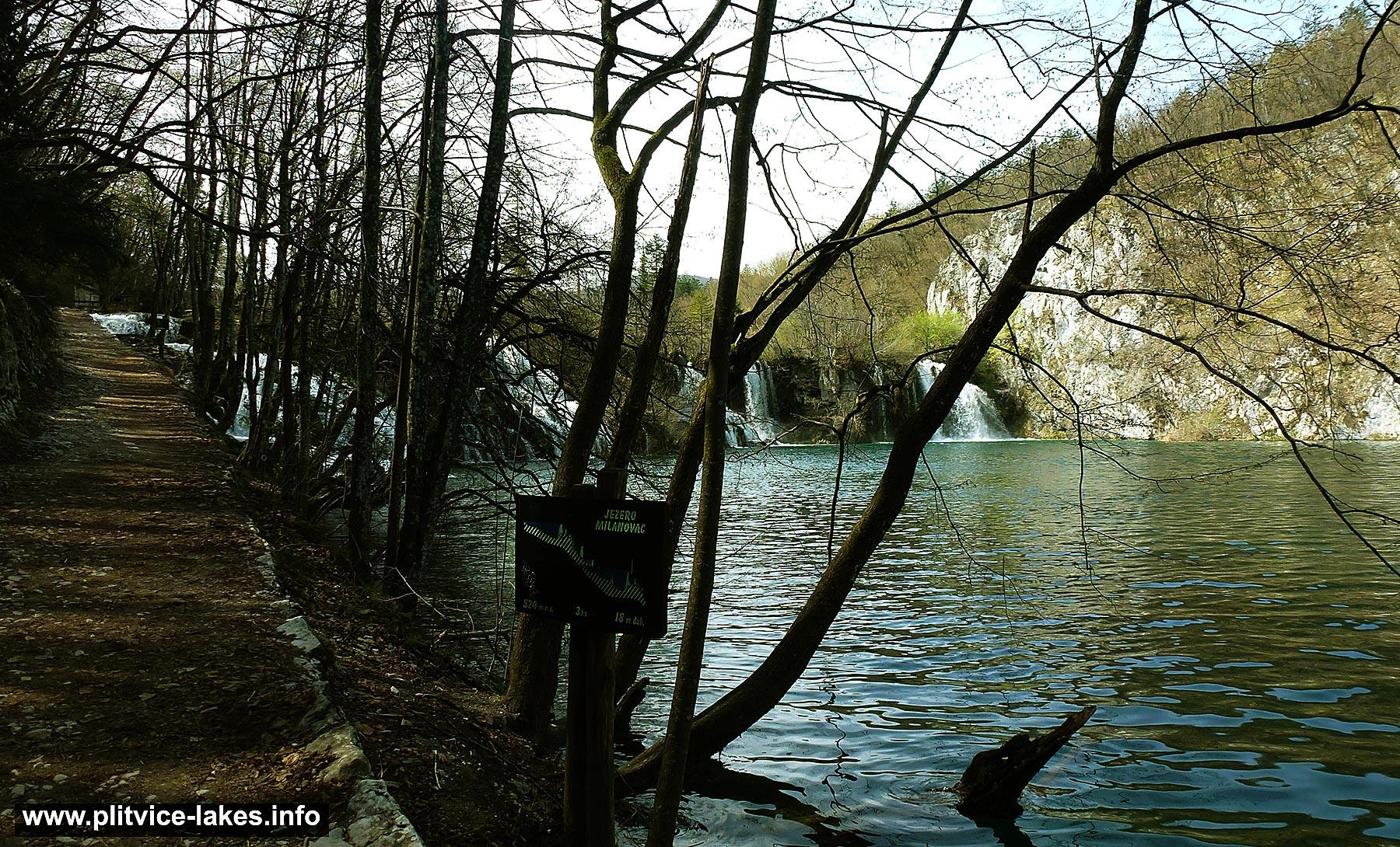 Walking path and Milanovac Lake