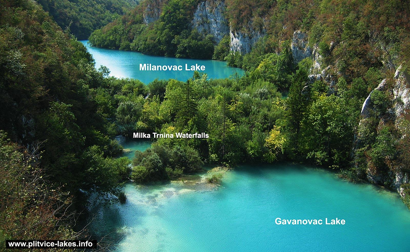 Milke Trnine Waterfalls with Milanovac and Gavanovac
