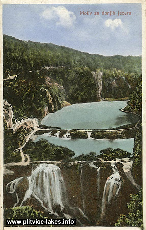 Panorama Lower Lakes - Novakovica Brod and Kaludjerovac - Plitvice 1902