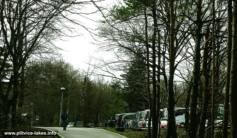 Parking Place near Entrance 1 @ National Park Plitvicka Jezera