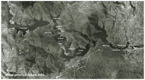 Arial Photo of Plitvice Lakes National Park from 1968