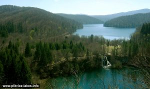Panorama of Proscansko Jezero, Plitvice National Park