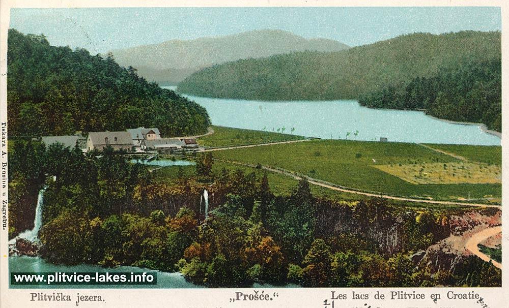Prošćansko jezero (Prošćansko Lake) and Prošće (1900s)