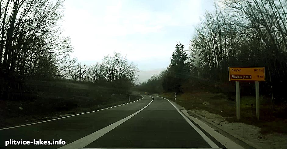 Driving back from Plitvice to Zagreb