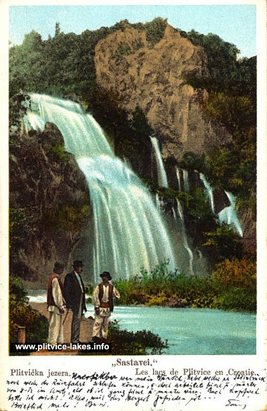 Sastavci Waterfall @ Plitvice Lakes (1902)