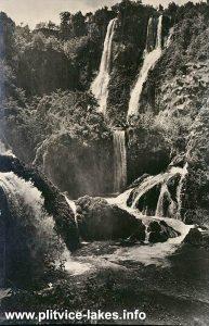 Sastavci Waterfall, Plitvice Lakes (1950s)