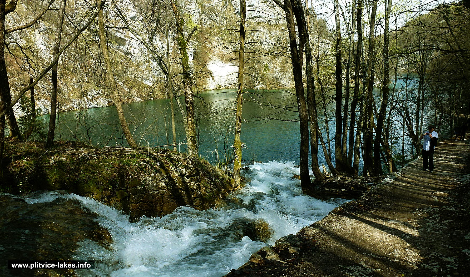 Walking Along the Lake, Plitvice Lakes - Spring 2015