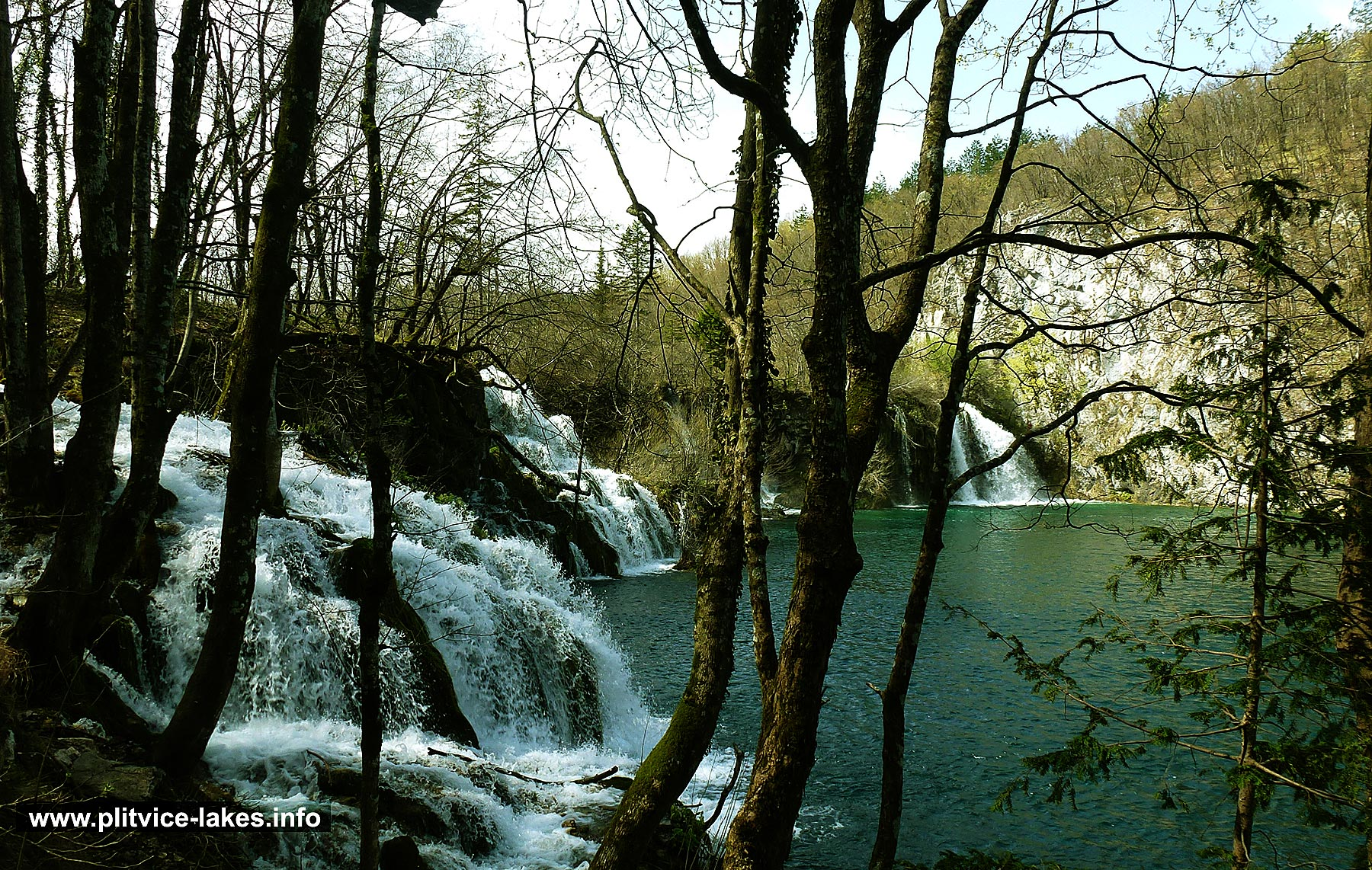 Cascading Waterfalls in Spring Colours - Plitvicka Jezera