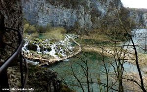Outside of Šupljara cave -views over Great Cascade - Plitvice Lakes