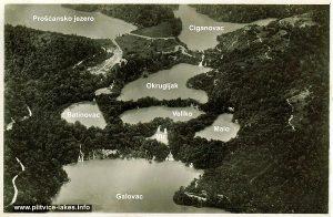 Birds Eye View of Upper Lakes @ Plitvice Lakes National Park (1937)