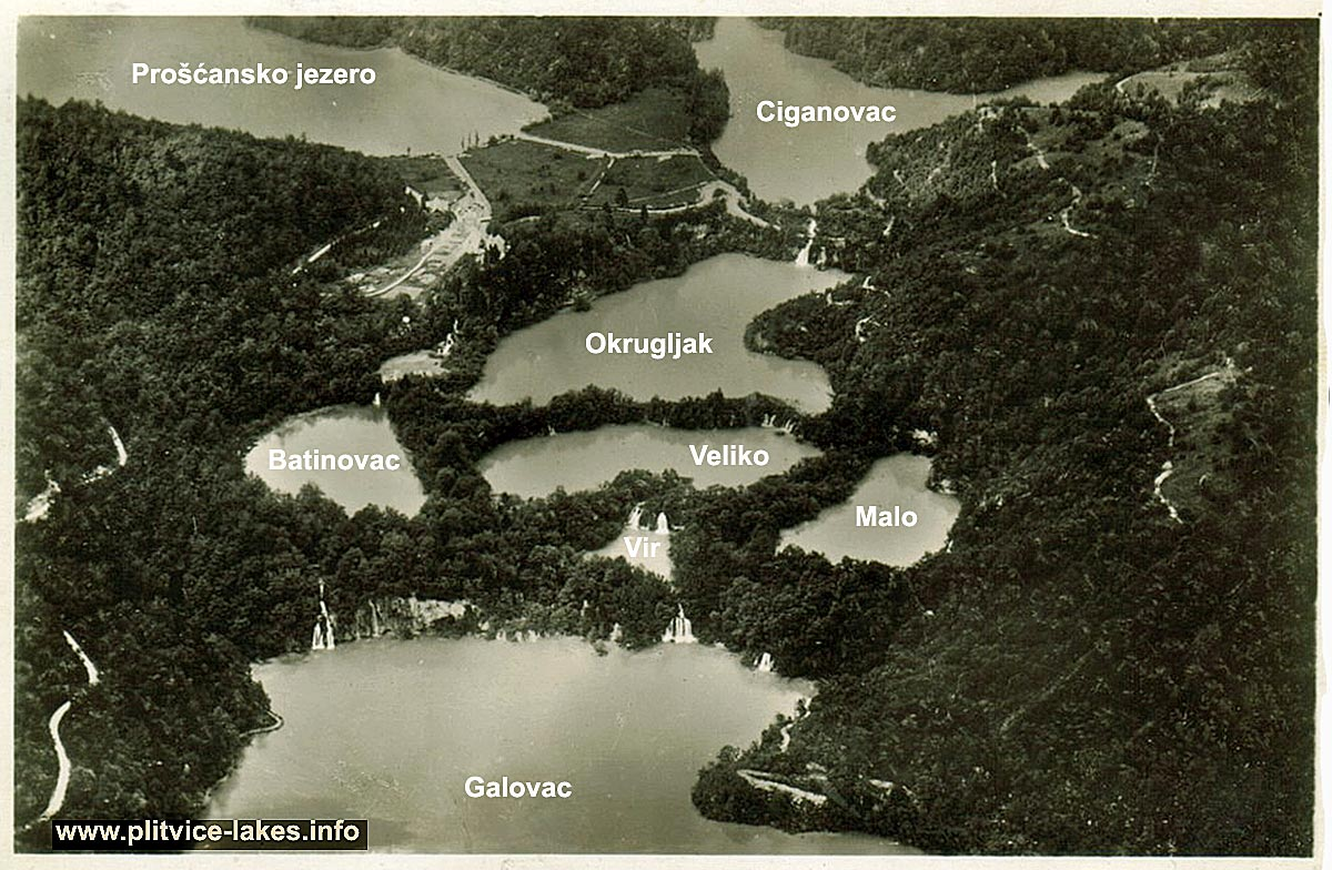 Birds Eye View of Upper Lakes @ Plitvice Lakes National Park (1937)
