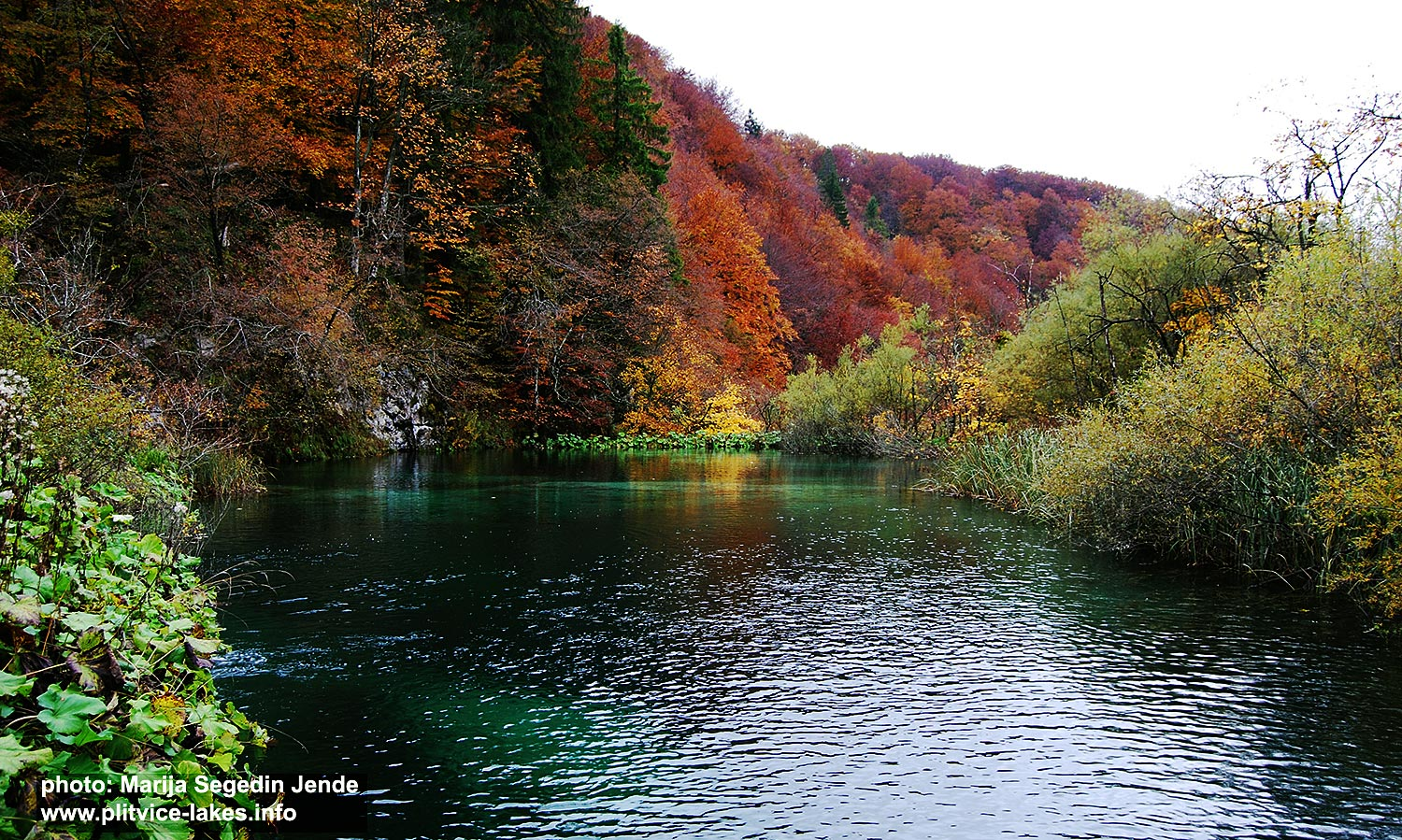 At Plitvice Upper Lakes in the Autumn