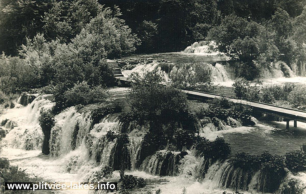 Velika Kaskada (Great Cascade) @ Plitvice Lakes (1950s)