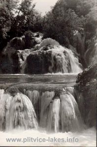 Detail of Milke Trnine Waterfalls (1950s)